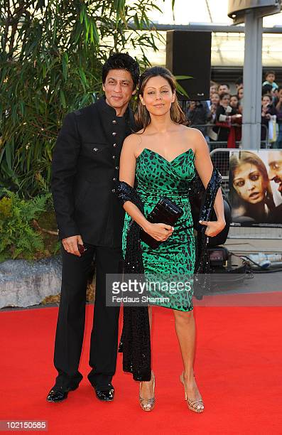 """Shakrukh Khan attends the World Premiere of """"Raavan"""" at BFI Southbank on June 16, 2010 in London, England."""