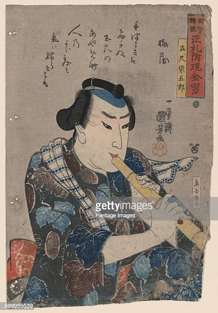 Shakuhachi Player Private Collection Artist Kuniyoshi Utagawa