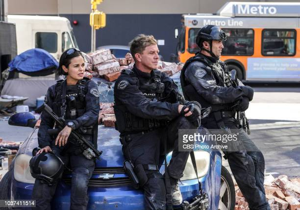 """Shaky Town"""" -- The SWAT team engages in a standoff with human traffickers holding child hostages when a major earthquake hits Los Angeles during..."""