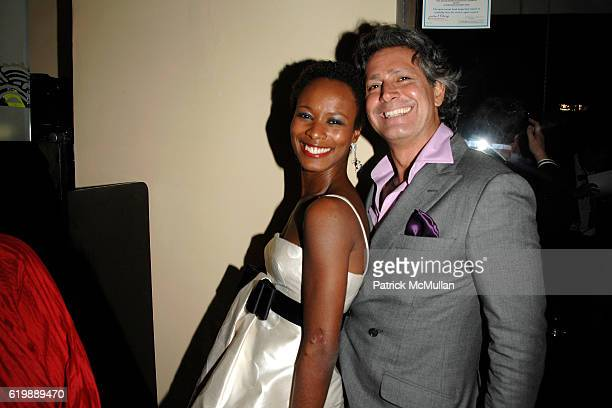 Shala Monroque and Carlos Souza attend GAGOSIAN GALLERY Private Dinner for JULIAN SCHNABEL at Mr Chow at Mr Chow on February 21 2008 in Beverly Hills...