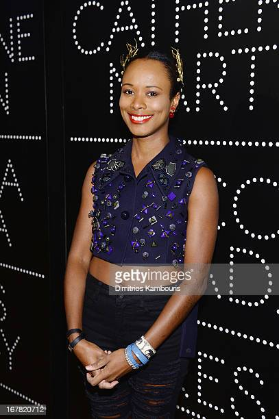 Shala Monroque attends Catherine Martin And Miuccia Prada Dress Gatsby Opening Cocktail on April 30 2013 in New York City
