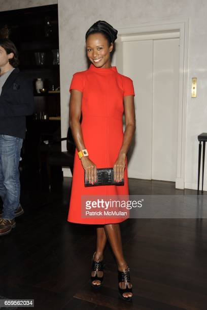 Shala Monroque attends Gwyneth Paltrow and VBH's Bruce Hoeksema Host Cocktail Party for Valentino The Last Emperor at VBH on October 27 2009 in New...