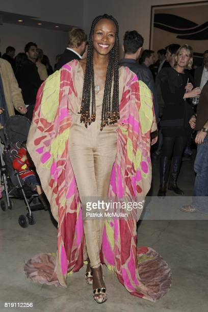 Shala Monroque attends LARRY GAGOSIAN hosts the ANDREAS GURSKY Opening Exhibition at GAGOSIAN GALLERY at Gagosian Gallery on March 4 2010 in Beverly...
