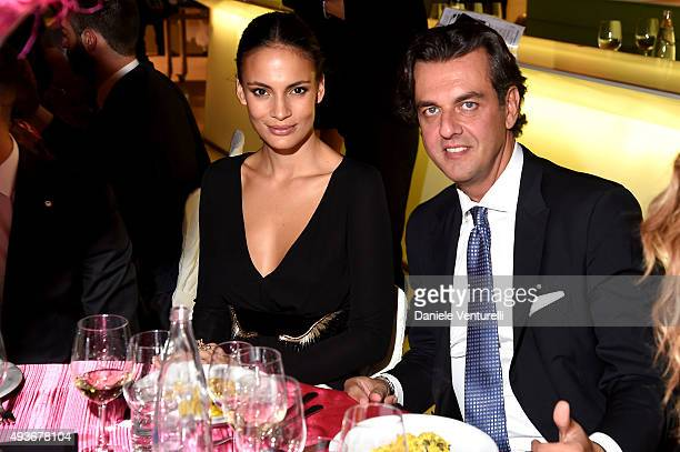 Shalana Santana and Michel Curatolo attend the Telethon Gala during the 10th Rome Film Fest on October 21, 2015 in Rome, Italy .