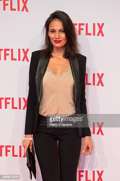 Shalana Santana attends the red carpet for the Netflix launch at Palazzo Del Ghiaccio on October 22, 2015 in Milan, Italy.