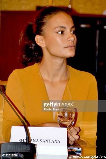"""Shalana Santana during the press conference to present the eighth edition of """"Gala Cinema Fiction"""" was held this morning in Naples . The event will..."""