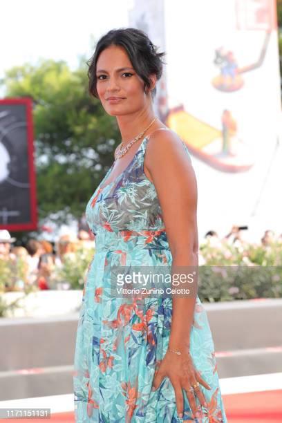 "Shalana Santana walks the red carpet ahead of the ""Il Sindaco Del Rione Sanita"" screening during during the 76th Venice Film Festival at Sala Grande..."