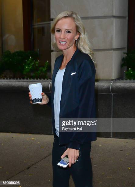 Shalane Flanagan is seen outside Live With Kelly on November 6, 2017 in New York City.