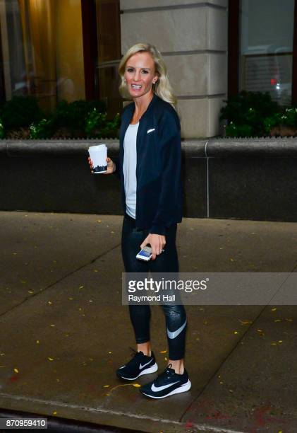 Shalane Flanagan is seen outside Live With Kelly on November 6 2017 in New York City