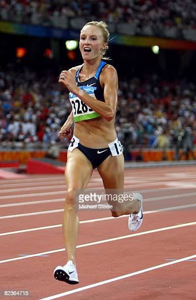 Shalane Flanagan of the United States competes in the Women's 10,000m Final at the National Stadium on Day 7 of the Beijing 2008 Olympic Games on...