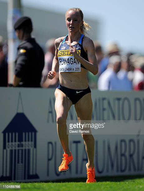 Shalane Flanagan of United States on her way to bronce during the Senior Women's race during the 39th Iaaf World Cross Country Championships March 20...