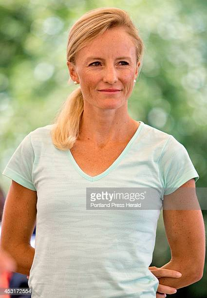 Shalane Flanagan will be competing in the TD Beach to Beacon 10K seen at the press conference at the Inn by the Sea Friday August 1 2014