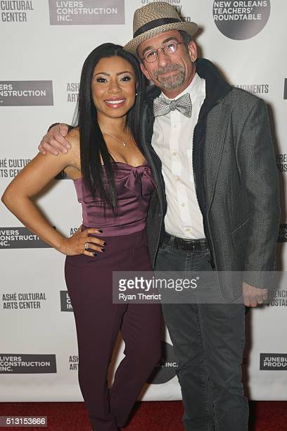 Shalita Grant and James Hayman arrive on the red carpet at House of Blues on February 27 2016 in New Orleans Louisiana