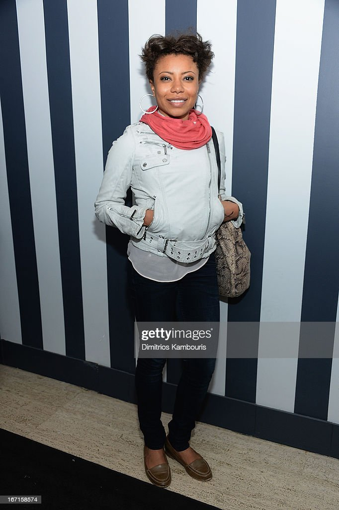 Shalita Grant attends the after party for The Cinema Society with FIJI Water & Levi's screening of 'Mud' at Harlow on April 21, 2013 in New York City.