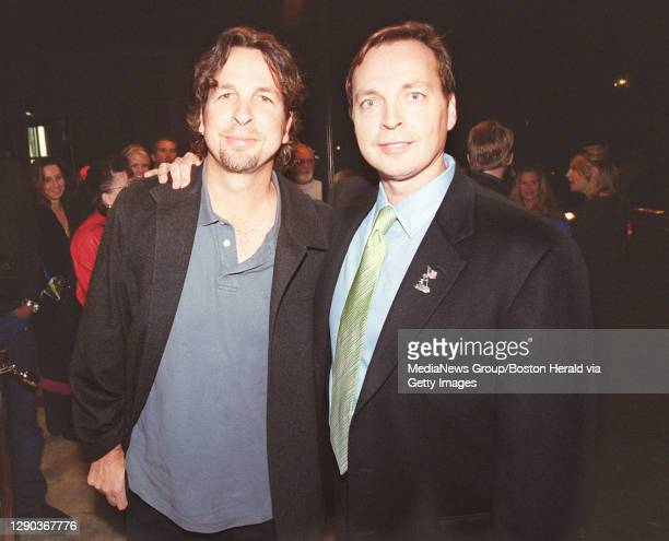 """""""Shallow Hal"""" directors Peter and Bobby Farrelly arrive at the Rhode Island premiere of the film on Thursday night."""