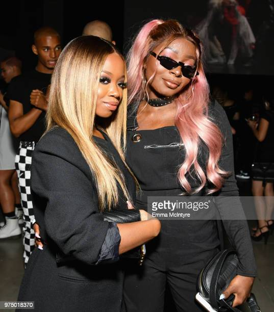Shalom Blac and guest attend MAC Cosmetics Aaliyah Launch Party on June 14 2018 in Hollywood California