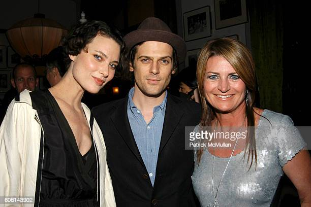 Shalom Harlow Aaron Ward and Marilyn Heston attend NICOLE MILLER's 25th Anniversary honoring Riverkeeper at Chinatown Brasserie on April 24 2007