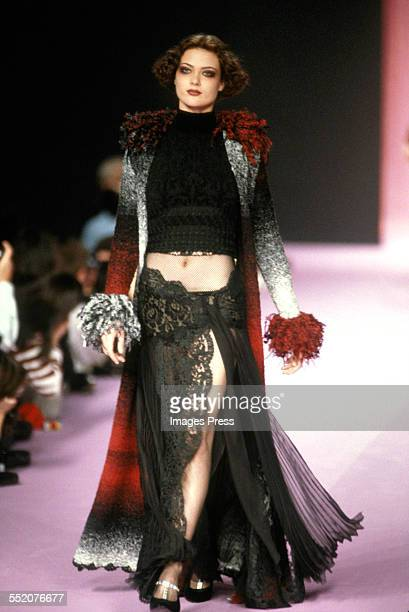 Shalom Harlow at the Christian Lacroix Fall 1994 fashion show circa 1994 in Paris France