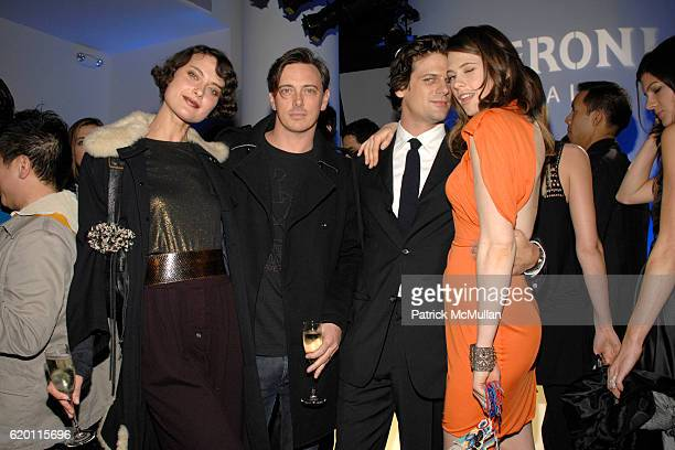 Shalom Harlow Donovan Leitch Aaron Ward and Elettra Rossellini Weidemann attend VOGUE ITALIA and MEN'S VOGUE with PERONI host '50 Years of Italian...
