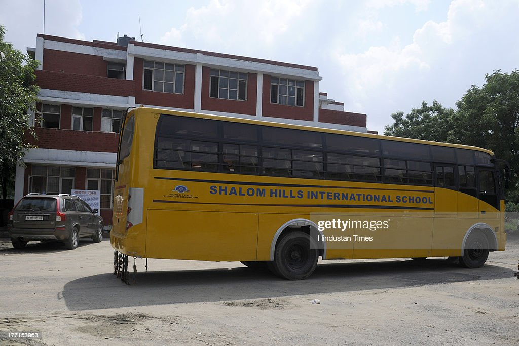 Shalom Hills International School bus in which a decomposed
