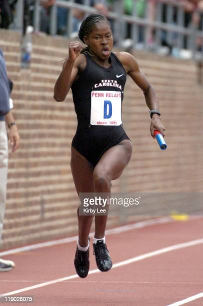 Shalonda Solomon anchors South Carolina women's 400meter relay to victory in 4340 in the 111th Penn Relays at Franklin Field in Philadelphia Pa on...