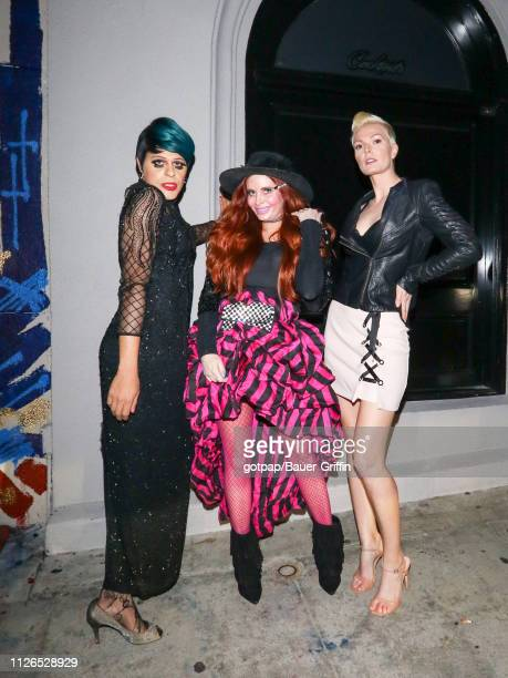 Sham Ibraham Phoebe Price and Diana Cole are seen on February 20 2019 in Los Angeles California