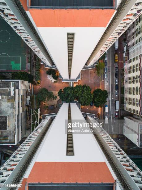 sham shui po, kowloon, abstract top downs, hong kong - the hobbit: an unexpected journey stock pictures, royalty-free photos & images