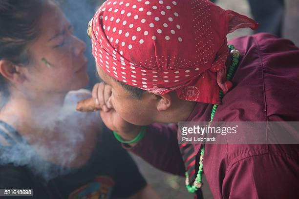 Shaman Blowing Smoke