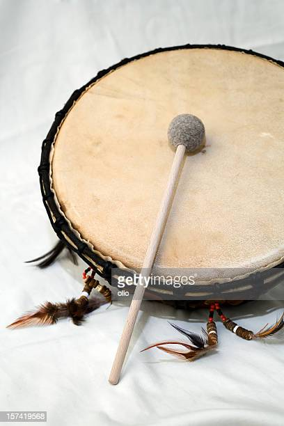 shaman drum - tambourine stock photos and pictures