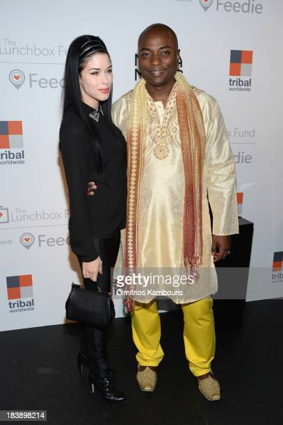 Shaman Durek and guest attend The Lunchbox Fund Fall Fête at Buddakan New York on October 9 2013 in New York City