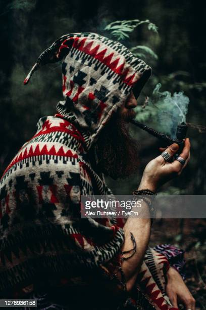 shaman magic smoke - fashion collection stock pictures, royalty-free photos & images