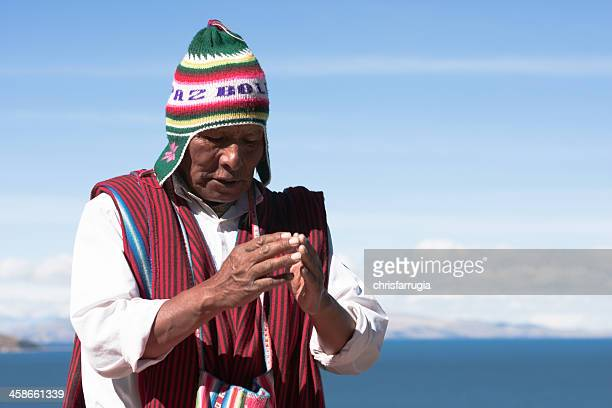 Shaman performs purification ritual