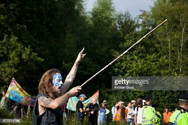 A shaman puts a spell on the Cuadrilla drill site Antifracking activists join hands to surround the Cuadrilla fracking site Thousands turned out for...