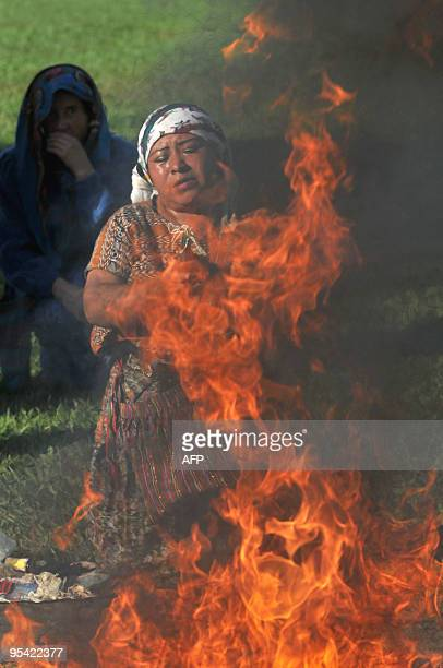 A shaman takes part in a Mayan ceremony to commemorate the anniversary of the peace agreement that put an end to the 196096 civil war in the country...