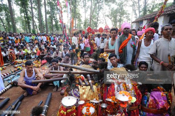 Shamans during the Dussehra Festival in Jagdalpur Dussehra Festival is devoted to Ma Danteshwari a goddess revered by the tribes of the Bastar...