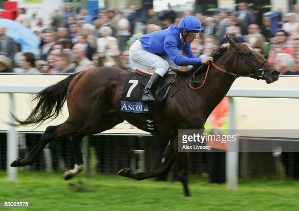 Shamardal ridden by Kerrin McEvoy wins The St James's Palace Stakes race during the first day of Royal Ascot held at York Racecourse on June 14, 2005...