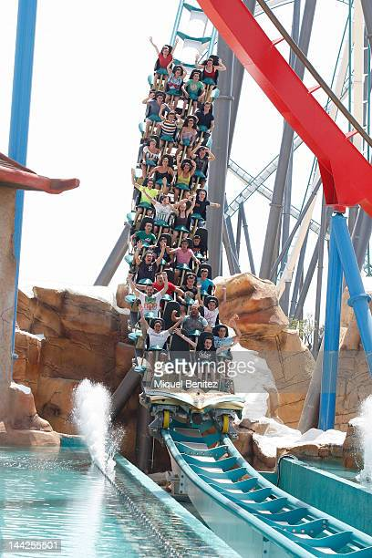 'Shambhala' roller coaster at Port Aventura theme Park on May 12 2012 in Salou Spain
