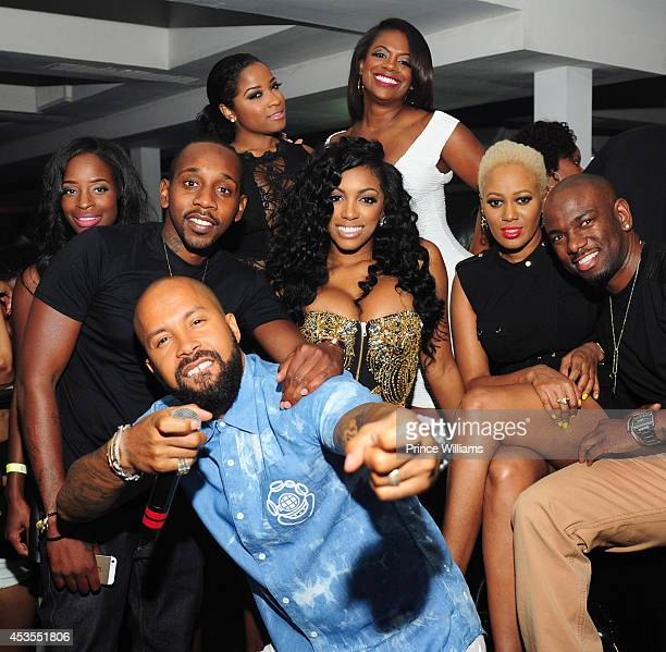 Shamea Morton Ruggs Antonia 'Toya' Wright Kandi Burruss Porsha Williams and Kenny Burns attend the official Bronner Brothers hair show after party at...