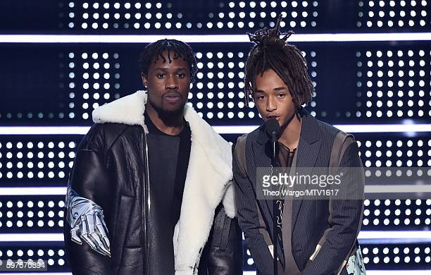 Shameik Moore and Jaden Smith present onstage during the 2016 MTV Video Music Awards at Madison Square Garden on August 28 2016 in New York City