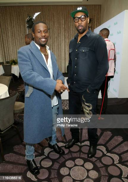 Shameik Moore and RZA attend the Hulu 2019 Summer TCA Press Tour at The Beverly Hilton Hotel on July 26 2019 in Beverly Hills California