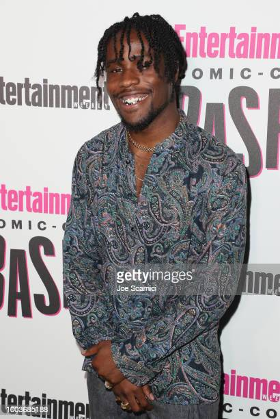 Shameik Moore attends Entertainment Weekly's ComicCon Bash held at FLOAT Hard Rock Hotel San Diego on July 21 2018 in San Diego California sponsored...