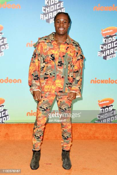 Shameik Moore attends Nickelodeon's 2019 Kids' Choice Awards at Galen Center on March 23 2019 in Los Angeles California