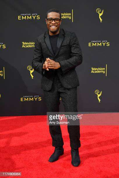 Shameik Moore attends the 2019 Creative Arts Emmy Awards on September 15 2019 in Los Angeles California