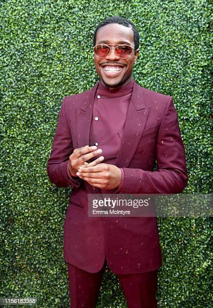 Shameik Moore attends the 2019 MTV Movie and TV Awards at Barker Hangar on June 15 2019 in Santa Monica California