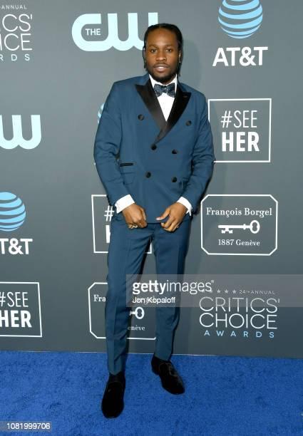 Shameik Moore attends the 24th annual Critics' Choice Awards at Barker Hangar on January 13 2019 in Santa Monica California