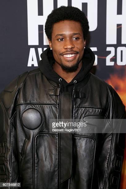 Shameik Moore attends the BET Hip Hop Awards 2016 Green Carpet at Cobb Energy Performing Arts Center on September 17 2016 in Atlanta Georgia