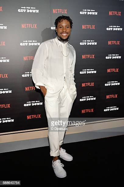 Shameik Moore attends The Get Down New York premiere at Lehman Center For The Performing Arts on August 11 2016 in the Bronx borough of New York City