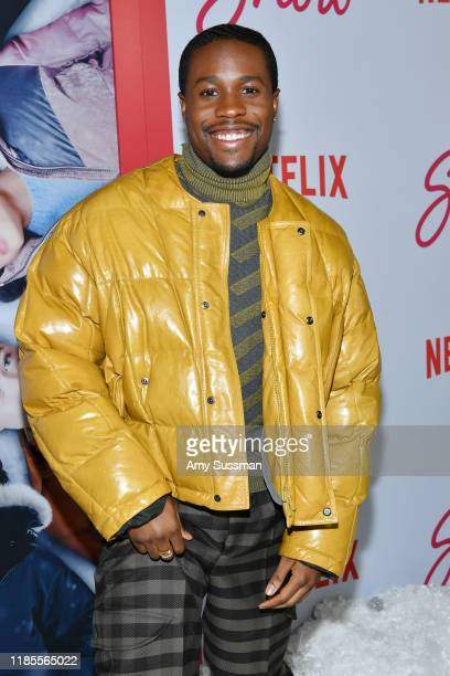 Shameik Moore attends the premiere of Netflix's Let It Snow at Pacific Theatres at The Grove on November 04 2019 in Los Angeles California