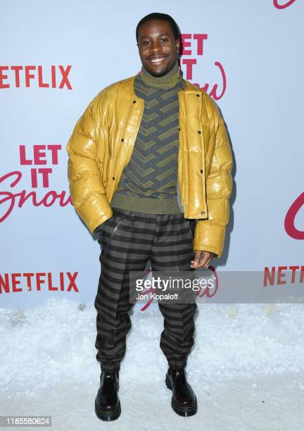 Shameik Moore attends the LA premiere of Netflix's Let It Snow at Pacific Theatres at The Grove on November 04 2019 in Los Angeles California