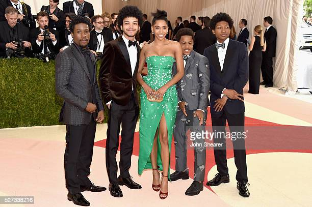 Shameik Moore Justice Smith Herizen F Guardiola Tremaine Brown Jr and Skylan Brooks attend the Manus x Machina Fashion In An Age Of Technology...
